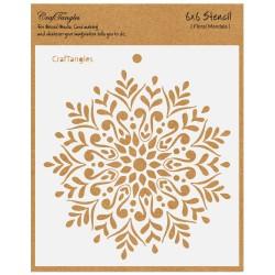 "CrafTangles 6""x6"" Stencil - Floral Mandala"