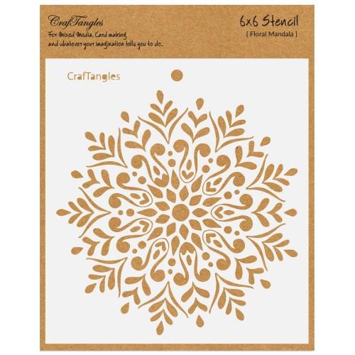CrafTangles 6x6 Stencil - Floral Mandala