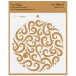 CrafTangles 6x6 Stencil - Swirly Circle