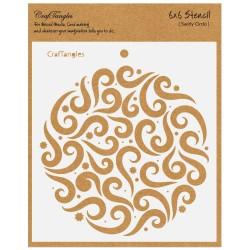 "CrafTangles 6""x6"" Stencil - Swirly Circle"