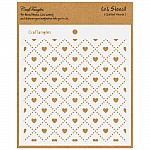 CrafTangles 6x6 Stencil - Quilted Hearts
