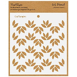 "CrafTangles 6""x6"" Stencil - Autumn Leaves"