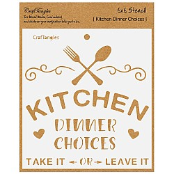 "CrafTangles 6""x6"" Stencil - Kitchen - Dinner Choices"