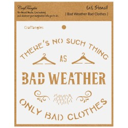 "CrafTangles 6""x6"" Stencil - Bad Weather"