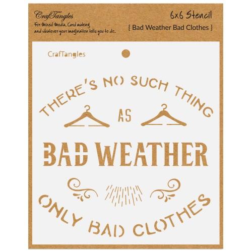 "CrafTangles 6""x6"" Stencil - Bad Weather"