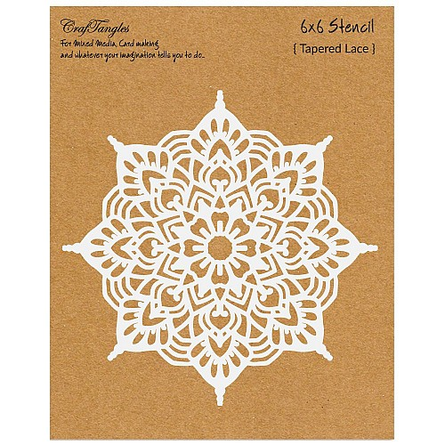 CrafTangles 6x6 Stencil - Tapered Lace