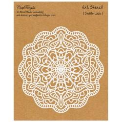"CrafTangles 6""x6"" Stencil - Swirly Lace"