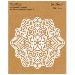 "CrafTangles 6""x6"" Stencil - Net Lace"