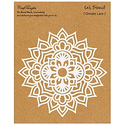 "CrafTangles 6""x6"" Stencil - Ornate Lace"