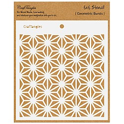 "CrafTangles 6""x6"" Stencil - Geometric Bursts"