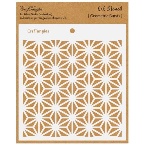 """CrafTangles 6""""x6"""" Stencil  - Geometric Bursts"""