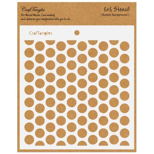 """CrafTangles 6""""x6"""" Stencil - Bubble Background"""