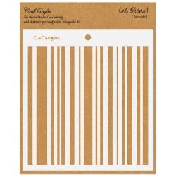 "CrafTangles 6""x6"" Stencil - Barcode"