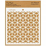 CrafTangles 6x6 Stencil - Hexagonal Stacks