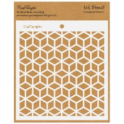 "CrafTangles 6""x6"" Stencil - Hexagonal Stacks"
