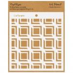 "CrafTangles 6""x6"" Stencil - Simply Geometric"