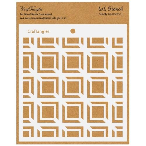 CrafTangles 6x6 Stencil - Simply Geometric