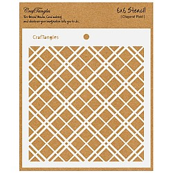 "CrafTangles 6""x6"" Stencil - Diagonal Plaid"