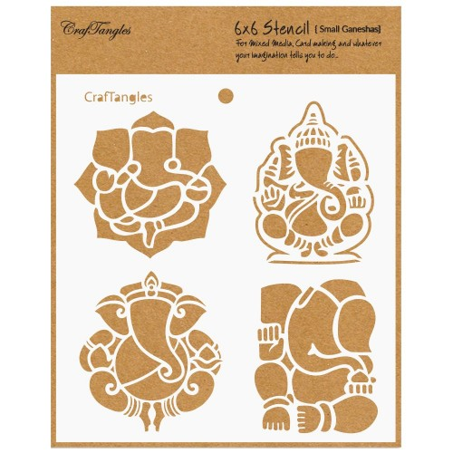 "CrafTangles 6""x6"" Stencil - Small Ganeshas"