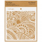"CrafTangles 6""x6"" Stencil - Doodle Around"