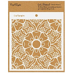 "CrafTangles 6""x6"" Stencil - Flower Power"