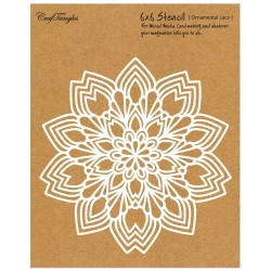 "CrafTangles 6""x6"" Stencil - Ornamental Lace"