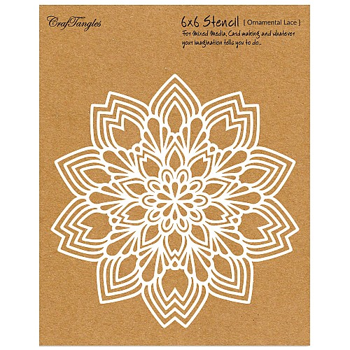 "CrafTangles 6""x6"" Stencil - Ornamental Lace"