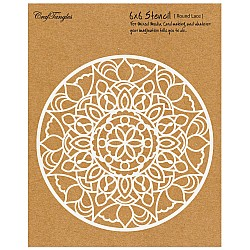 "CrafTangles 6""x6"" Stencil - Round Lace"