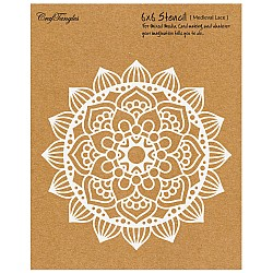 """CrafTangles 6""""x6"""" Stencil - Medieval Lace"""
