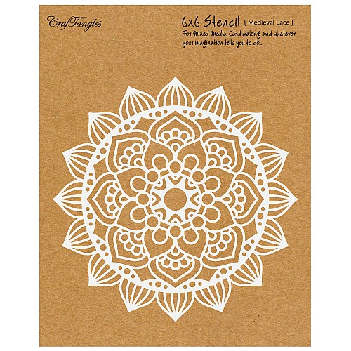 CrafTangles 6x6 Stencil - Medieval Lace