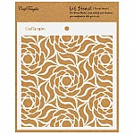 "CrafTangles 6""x6"" Stencil - Floral Mesh"