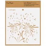 """CrafTangles 6""""x6"""" Stencil - Fireworks"""
