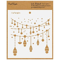 "CrafTangles 6""x6"" Stencil - Starry Lights"