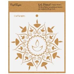 "CrafTangles 6""x6"" Stencil - Happy Diwali"