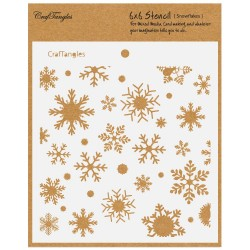 "CrafTangles 6""x6"" Stencil - Snowflakes"