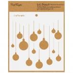 "CrafTangles 6""x6"" Stencil - Christmas Ornaments"