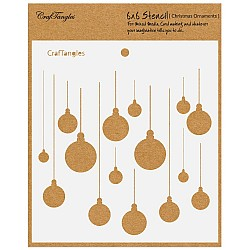 "CrafTangles 6""x6"" Stencil - Christmas Ornaments"