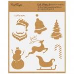 "CrafTangles 6""x6"" Stencil - Christmas Elements"