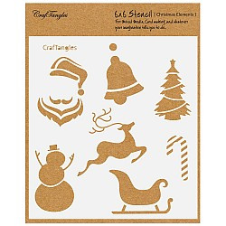 "CrafTangles 6""x6"" Stencil - Christmas Elements"