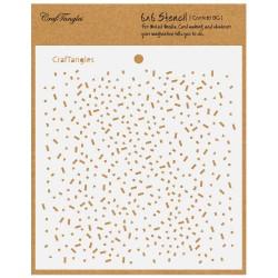 """CrafTangles 6""""x6"""" Stencil - Confetti Background"""