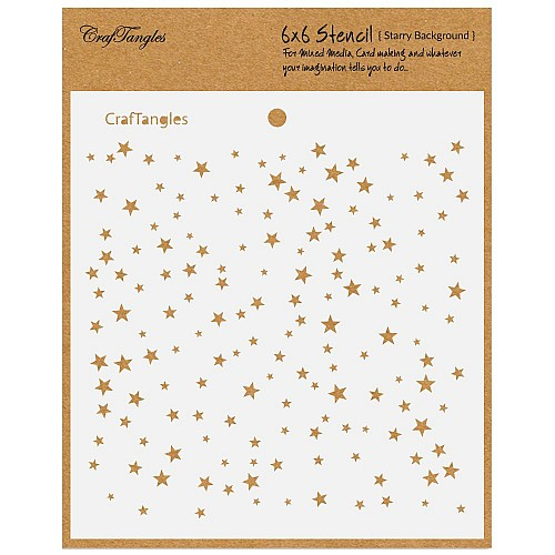 "CrafTangles 6""x6"" Stencil - Starry Background"