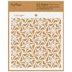 "CrafTangles 6""x6"" Stencil - Flower Cluster"
