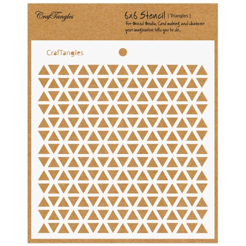 "CrafTangles 6""x6"" Stencil - Triangles"