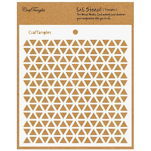 CrafTangles 6x6 Stencil - Triangles