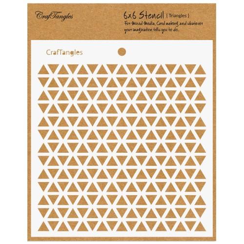 """CrafTangles 6""""x6"""" Stencil - Triangles"""