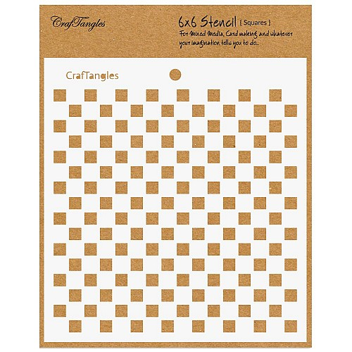 "CrafTangles 6""x6"" Stencil - Squares"