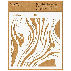 """CrafTangles 6""""x6"""" Stencil - Marble Effect"""