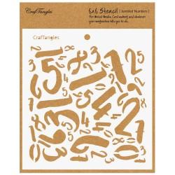 """CrafTangles 6""""x6"""" Stencil - Jumbled Numbers"""