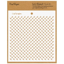 "CrafTangles 6""x6"" Stencil - Treads Background"