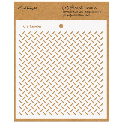 CrafTangles 6x6 Stencil - Treads Background